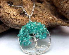 Sapphire Tree of Life necklace Genuine Sapphire by mandalarain