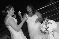 Arecibo, PUERTO RICO :: Elizabeth and Ariana having their cake and eating it too! #LGBT #wedding #photographer #PuertoRico #photography #gay #lesbian  www.rinconimages.com LGBT wedding photography Puerto Rico
