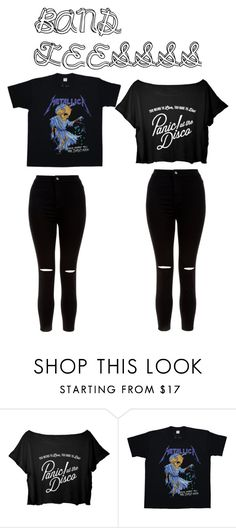 """""""BAND TEES"""" by cassidymalllen on Polyvore featuring New Look"""