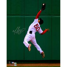 399b4565f Mookie Betts Boston Red Sox Fanatics Authentic Autographed 16'' x 20''  Diving Catch In Outfield Photograph