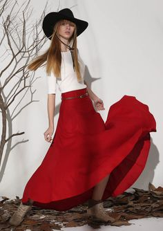 red skirt, linen skirt, linen skirt, high waisted skirt, full skirt, summer skirt, ruffle skirt, maxi skirt, womens skirts  (1154)