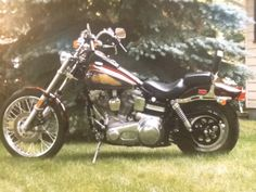 1985 FXWG Harley Davidson Wideglide. Been riding on one of those bad boys since my childhood. They really got it right with this model. Beautiful machine