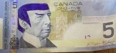 Bank of Canada urges 'Star Trek' fans to stop 'Spocking' their fivers   Dangerous Minds