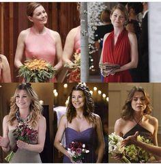Mer - bridesmaid ♥ April's Wedding, Bailey's Wedding, Cristina's wedding with Owen, Izzie's wedding, and Cristina's almost wedding with Burke..