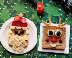 Xmas breakfast - Santa and rudolph