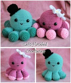 Crothet Octopus (very cool way to attach the legs!)