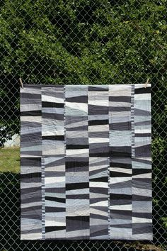 Monochrome was created explicitly for the August Quilt! show in Portland, Oregon. This is my second year entering the cha. Monochromatic Quilt, Neutral Quilt, Wool Quilts, Scrappy Quilts, Quilting Projects, Quilting Designs, Modern Quilt Patterns, Modern Quilting, Amigurumi