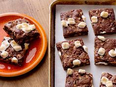 Marshmallow-Nut Brownies Recipe : Rachael Ray : Food Network - FoodNetwork.com
