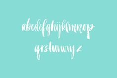Brushy Mini font by Molly Jacques on @creativemarket