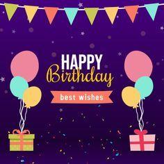 Purple Happy Birthday Wish Social Media Instagram Template In 2021 Happy Birthday Cake Images Birthday Cards To Print Birthday Card Maker