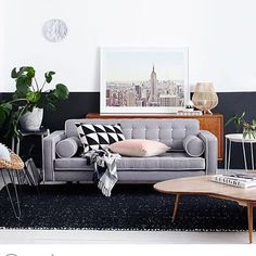 We are still in awe of this divine living space styled by @insideoutmag featuring our Australian made Jazz sofa, Carson buffet and Marilyn coffee table #ozdesign #ozdesignfurniture #insideoutmag #living #home #homedesign #designer #interiordesign #newyork #monochrome #australianmade #homedecor #homewares #homeinspo #L4L #design #F4F #home #instafollow