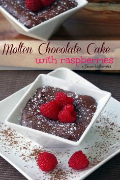 Molten Chocolate Cake Recipe with Raspberries