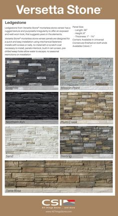 Great Ideas for Interior Decorating with Stone Veneer Stone Veneer Exterior, Stone Veneer Panels, Faux Stone Panels, Stone Siding, Rock Siding, Blue Siding, Latest Cupboard Designs, Front Wall Design, Manufactured Stone Veneer