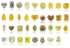 for my dad...  his favorite gem.  Yellow diamonds color scale by Leibish & Co