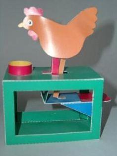 Walter Ruffler - Paper Machines - Gallery - Robert Ives - The Pecking Hen