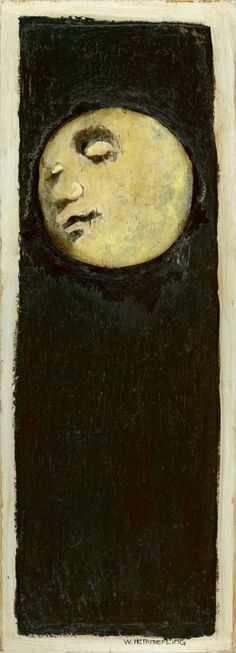 Full Moon by William Hemmerling. I chose to include this pin because just like the film the moon has a face although this one it's quite subtle and calming the complete opposite to the original.
