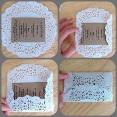 Doily envelope by Lorett