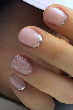 nail design pink with silvery coating jzenails via instagram