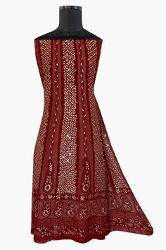 Ada Hand Embroidered Maroon Georgette Lucknowi Chikan Semi-Stitched Anarkali Kurta Dupatta Set with Gota patti Work - 01A12660 offers a comfortable and relaxed silhouette to the wearer. #Ada #Adachikan #chikankari #chikanwork #chikankari #gotapatti #zariembellishment #ornamentation #anarkali #maroon #georgette #viscosegeorgette #puregeorgette #lucknowi #chikankaricollection #handcrafted #handembroidery #chikanembroidery