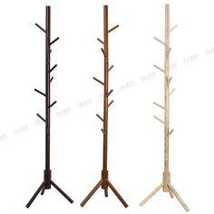 Tree Style Hat Bag Coat 9 Hooks Wooden Made Rack Coat Stand Coat Rack UK Stock