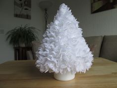 Hand knitted Lace Christmas Tree