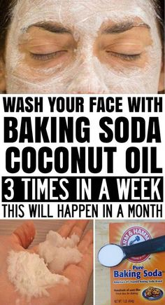 Wash Your Face with Coconut Oil and Baking Soda 3 Times a Week and This Will Happen in a Month! in 2020 Baking Soda Coconut Oil, Baking Soda Shampoo, Natural Beauty Tips, Natural Skin Care, Diy Beauty, Beauty Guide, Beauty Secrets, Homemade Beauty, Beauty Base