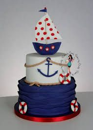 Baby Shower Nio Birthday Amazing Cakes I Could Never Make These Bakers Have . Fancy Cakes, Cute Cakes, Baby Shower Cakes, Baby Boy Shower, Sailor Cake, Sailor Theme, Boat Cake, Nautical Cake, Nautical Theme