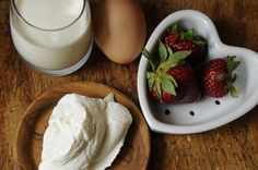 Sweet Valentine's Coeur A La Creme With Strawberry Sauce Recipe ...