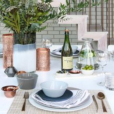 Copper Dining Table Setting Ideas