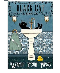 I Love Cats, Crazy Cats, Cool Cats, Cat Wash, Black Cat Art, Cat Posters, Here Kitty Kitty, Vintage Cat, Cats And Kittens