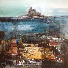 St Michael's Mount from Marazio - Art Gallery - Painting by Surrey Artist Nagib Karsan (Cranleigh Art Group, Dorking Art Group & Guildford Art Group) - Painting Commissions Invited