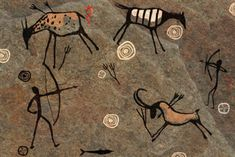 Drawing on a Rock cave painting Arte Tribal, Tribal Art, Native Art, Native American Art, Paleolithic Art, Paleolithic Period, Art Pariétal, Stone Age Art, Drawing Rocks