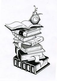 tattoo stack of books with owl - Google Search