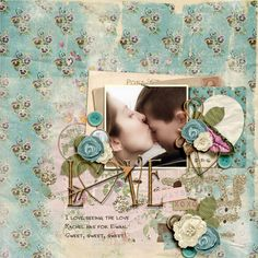 Love - Sweet Shoppe Gallery - A digital scrapbook page by Diane.  The digital scrapbooking layout is made using digital scrapbooking kit(s) designed by On A Whimsical Adventure, sold at Sweet Shoppe Designs: My One True Love Bundle, Whimsical Templates Vol 03.