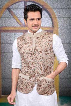 Beige Linen #Nehru #Jacket @ $63.79