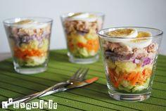 Salad in a glass by L'Exquisit #Salad #LExquisit