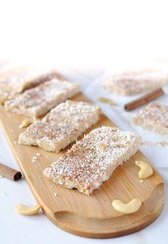 No Bake Coconut Cashew Bars | Ruled Me