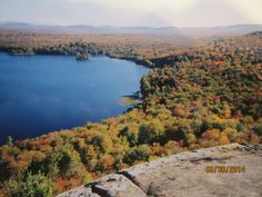 View Of Lake Lila, From Mt. Frederica.  Adirondack Mts.