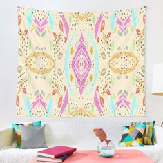 Graphic pastels, multicolor, abstracto Tapestry