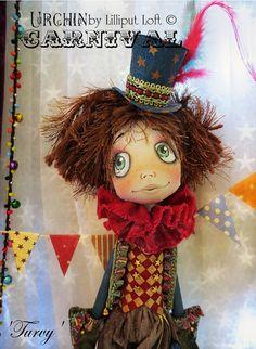 Art Doll OOAK  Urchin Carnival Collection  Turvy by lilliputloft