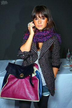 miroslava duma. I love her because she is tiny like me, but her clothes never overpower her. I must know how she does this!