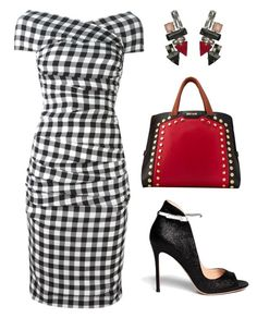 """Untitled #1970"" by renee-switzer ❤ liked on Polyvore featuring Dolce&Gabbana, Gianvito Rossi, Just Cavalli and dress"