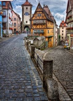 Rothenburg ob der Tauber, Germany! Meant to be a romantic road <3