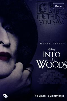 i'm still not happy Disney is making Into the Woods a movie. But then again I'm just so happy Into the Woods is going to be a movie.