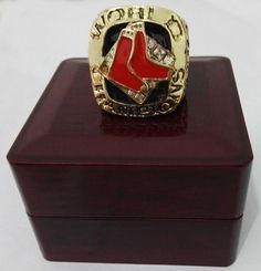 2007 Boston Red Sox Major League Baseball Custom world Championship Ring With Wooden Boxes
