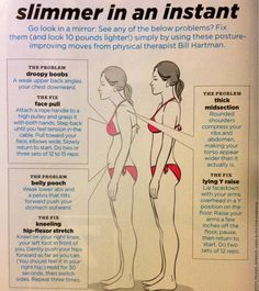 Exercises intended to improve posture