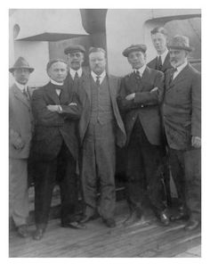 Harry Houdini with Theodore Roosevelt and Others