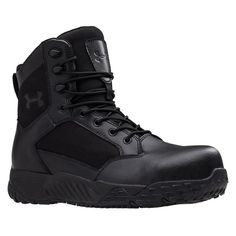 9526bf2736c5 Men s Under Armour Stellar Protect Rubber Tactical Boots Black Rubber