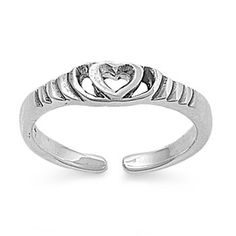 Sterling Silver Cz Plumeria Toe Ring Flower Ring Silver Rings Modern And Elegant In Fashion