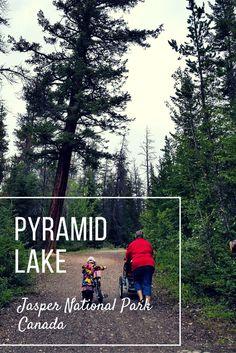 Pyramid Lake Fire Road in Jasper National Park, Canada